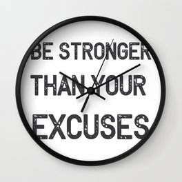 Be Stronger Gym Fitness Gifts Wall Clock