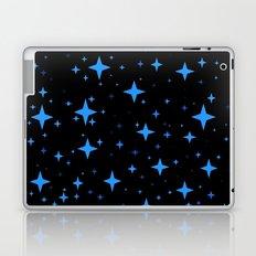 Bright Blue  Stars in Space Laptop & iPad Skin