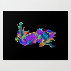Candela Collage Art Print