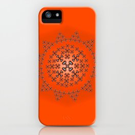 Holloween Crossbones Medallion iPhone Case