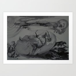 Eggcentric! Art Print