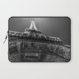 Eiffel Tower 2 (Black and White) Laptop Sleeve