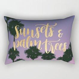Sunsets & Palmtrees Rectangular Pillow