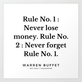 10  | Warren Buffett Quotes | 190823 Art Print