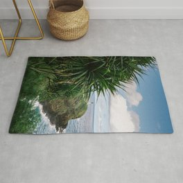 Kilauea Lighthouse Kauai Hawaii | Tropical Beach Nature Ocean Coastal Travel Photography Print Rug