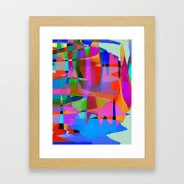 Multi Colorfall Framed Art Print