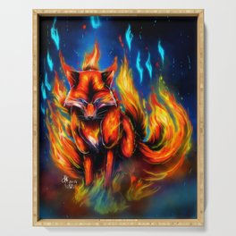 9 tails Fire Serving Tray