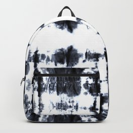 Boho BW Stitch Shibori Backpack