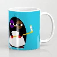 hockey Mugs featuring Hockey penguin by Jaxxx