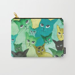 Kiowa Whimsical Cats Carry-All Pouch