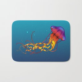 Jellyfish Red Bath Mat