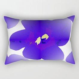 Large Retro Blue Flowers #1 White Background #decor #society6 #buyart Rectangular Pillow