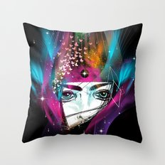 Femina Nebulae Throw Pillow