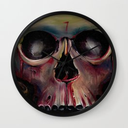 The Mask of the Red Death Wall Clock