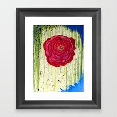 Dripping Dog Rose Framed Art Print