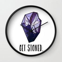 Get Stoned - Amethyst Wall Clock