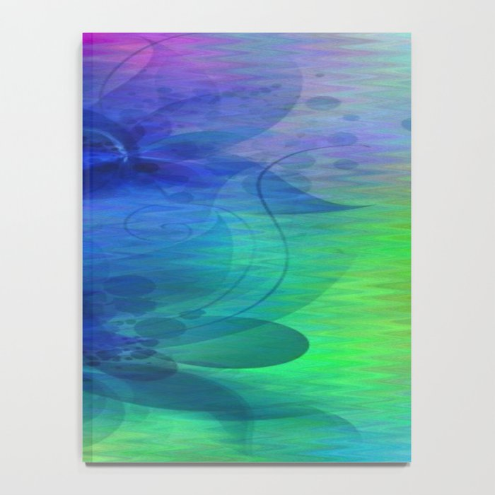 Rainbow Ripples and Ribbons Abstract Notebook