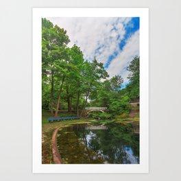 Jean-Drapeau Arch Pond Art Print