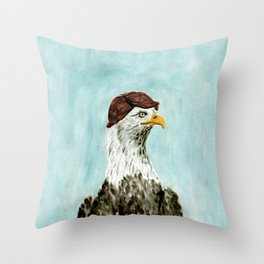 Mid-Life Crisis Eagle  Throw Pillow