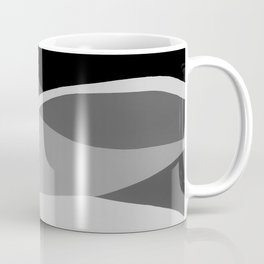 Gray and Pewter Waves Coffee Mug