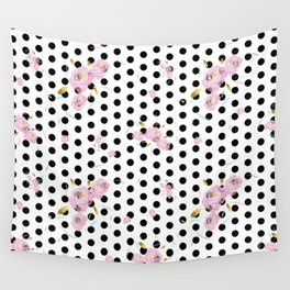 Floral Dot Wall Tapestry