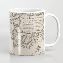 Vintage Map of Nagasaki Japan (1764) Coffee Mug
