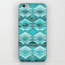 Rustic Tribal Blue iPhone Skin