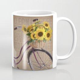 Sunflower Bicycle Coffee Mug