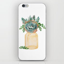 Succulents in Mason Jar iPhone Skin