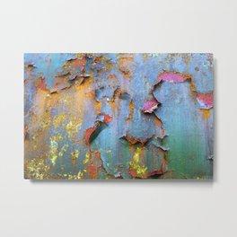 Peeling paint and rust textures 135 Metal Print