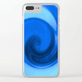 Blue tie dye Clear iPhone Case