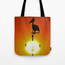 Pelican Weathervane Tote Bag