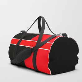 Team Colors 6...red,black,white Duffle Bag