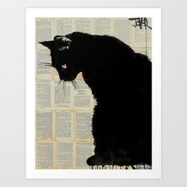 cat black Art Print