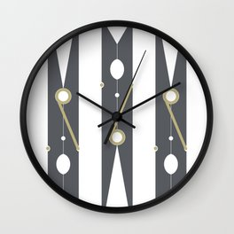 Clothespin Sign, Dark Grey Wall Clock