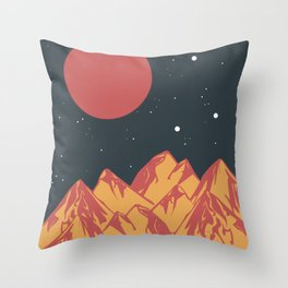 galactic mountains Throw Pillow