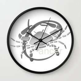 Cancer the Crab - Zodiac Sign Wall Clock