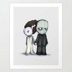 Frankie & Bride Art Print