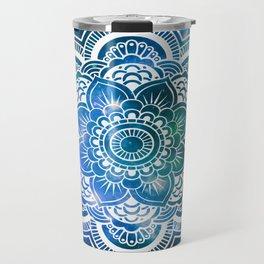 Mandala : Blue Green Galaxy Travel Mug
