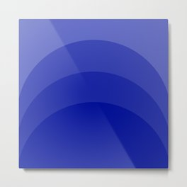 Four Shades of Blue Curved Metal Print