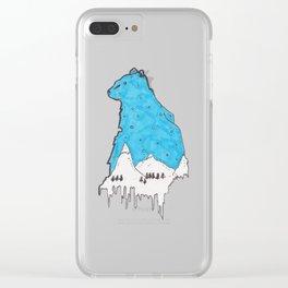 Snow Bear Clear iPhone Case