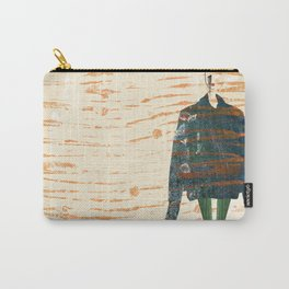 Oversize Denim Carry-All Pouch