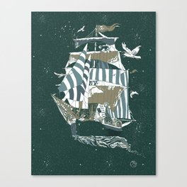 Sail to The Moon Canvas Print
