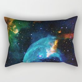 Blue Bubble Rectangular Pillow