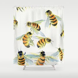 All About Bees Shower Curtain