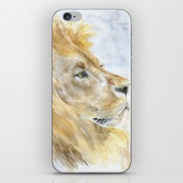 African Lion Watercolor iPhone Skin