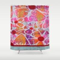aloha Shower Curtains featuring Aloha by E.Seefried Art