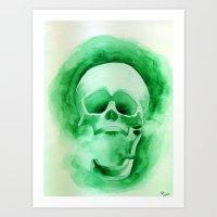 Green - Original Watercolor Painting By Sophia Hanna Art Print