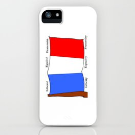 Flag of France III- France, Français,française, French,romantic,love,gastronomy iPhone Case