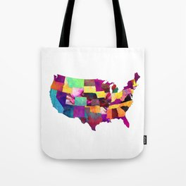 USA map art 1 #usa #map Tote Bag